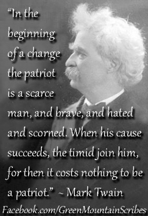 Patriotic quotes, best, meaningful, sayings, mark twain