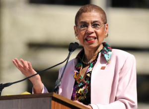 Eleanor Holmes Norton speaks at a Census rally in Washington