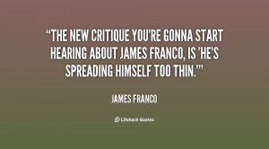 The new critique you're gonna start hearing about James Franco, is 'He ...