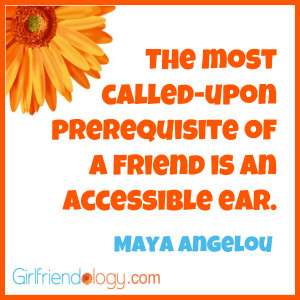 Friendship Quotes Maya Angelou