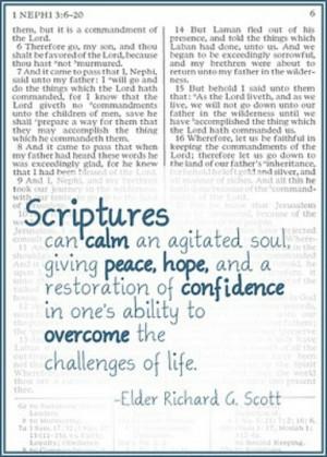 Importance of Scriptures by Elder Richard G. Scott