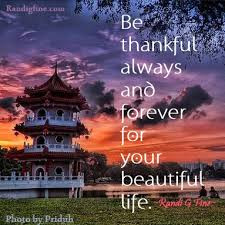 Be Thankful Always And Forever For Your Beautiful Life ~ Hope Quote