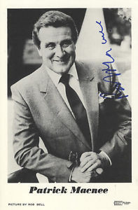 Patrick Macnee John Steed in The Avengers Signed B W Photograph
