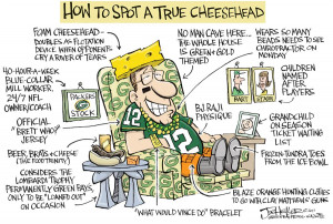 Steelers vs. Packers Cartoons
