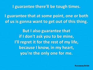 Movie Quote. (Runaway Bride)Cartoons Quotes, Fav Quotes, Movie Quotes ...