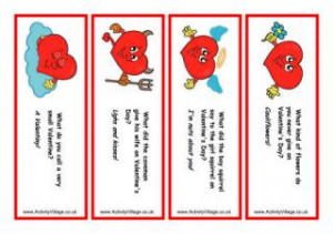 ... printable valentine s day bookmarks complete with valentines jokes
