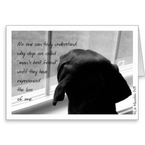 Sympathy Card-Loss of Pet Dog