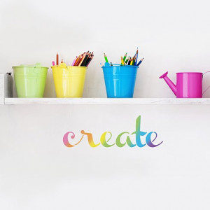 Stencil an inspirational wall quote in your craft space from Cutting ...