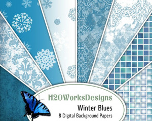 Winter Blues pictures and quotes | Winter blues 8.5x11 digital ...