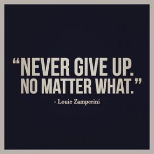 Yet another unforgettable quote from Louie Zamperini