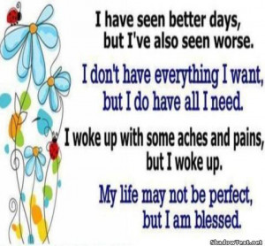 Not Perfect, Blessed