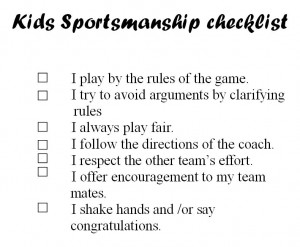 ... to Sports Day. How do you measure up on the Sportsmanship Checklist