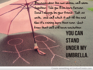 beautiful, cute, inspirational, love, quote, quotes, under my umbrella