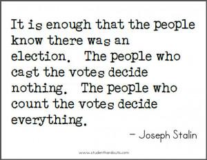 Joseph Stalin on Elections