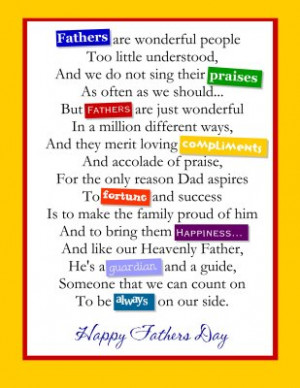 Father's Day Poem – The Most Sincere Present