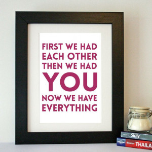 we have everything' family quote print by hope and love ...