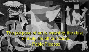 Pablo picasso, best, quotes, sayings, art, purpose, wise, deep