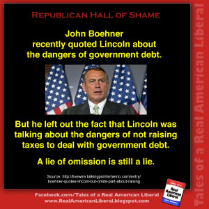 John Boehner quotes Lincoln out of context to fit his agenda ...