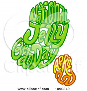 ... Clipart National Jelly Bean Day April Text In The Shape Of Beans