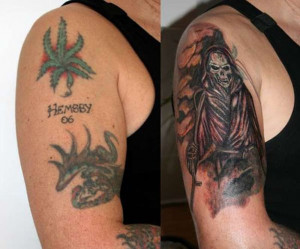 OUTSTANDING TATTOO COVER-UPS
