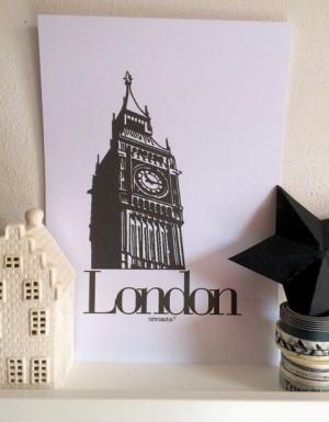 London Big Ben UK Art Print A4 Quote Poster door PaperCandyNL, €4.50 ...