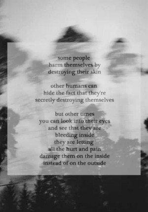 Self harm and depression quote
