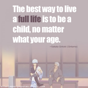 gintoki gintama sakata anime quotes