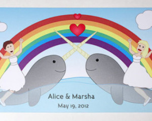 ... Narwhal Wedding Invitation, Funny Wedding Invitation, Recycled Paper