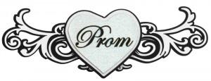 Paper Wizard - Die Cuts - Prom Title - White