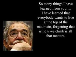 "... Garcia Marquez …. ""El Gabo"" …. may he rest in eternal peace"