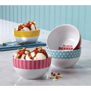 Cake Boss 4-Piece Ice Cream Bowl Set,