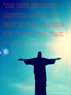 Rio Christ Statue Brazil Travel Quote