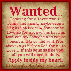 Looking for a lover ..