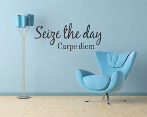 SEIZE THE DAY Carpe Diem Vinyl Wall Quote Decal Letters (214)