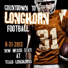 Texas Longhorns Football kicks off on 8-31-13 with a game against New ...