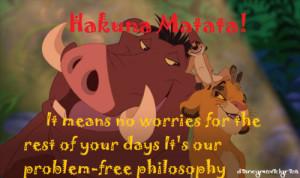 Lion King Quotes Hakuna Matata Lion king quotes hakuna matata