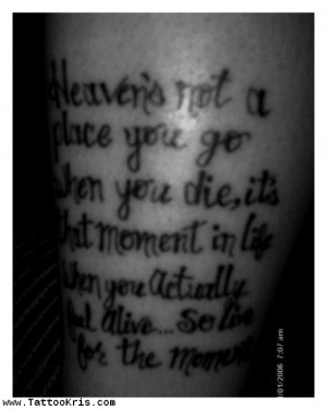 Tattoo Ideas Quotes On Death Heaven Mourning 1