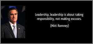 responsibility leadership leadership is about taking responsibility ...