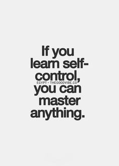 Self Control Quotes