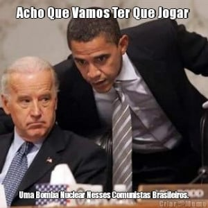 ... comunistas brasileiros criado em homens obama obama biden preocupados