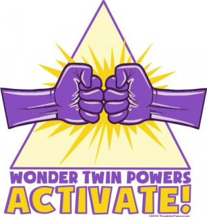 Wonder Twin Powers Activate! These come in tees and onesies for when ...