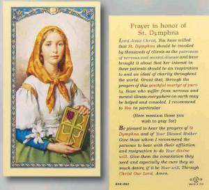 & Martyr - Patron saint St Dymphna is Patron Saint of mental health ...