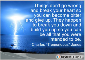 Motivational Quote - Things don't go wrong and break your heart so you ...