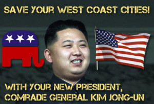 ... Kim Jong-un offers himself as the GOP nominee for President in 2012
