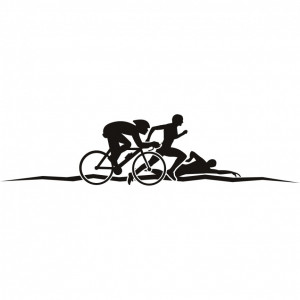 ... Quotes And Sayings: Triathlon Athletics And Wall Art Sticker On Simple