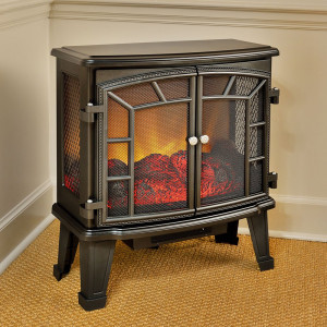 Duraflame 950 Black Electric Fireplace Stove with Remote Control DFS