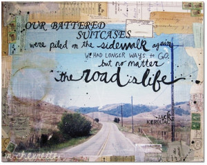 quote-book:words by jack kerouac. art by mae chevrette.