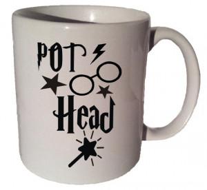 POT HEAD Harry Potter Fan quote 11 oz coffee tea mug