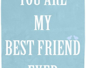 Best friends art print, emotional q uote wall art, gift for a friend ...