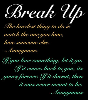 Break Up Image
